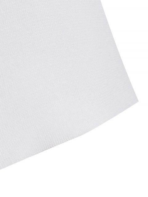 Débardeur en tricot Cami en dentelle - Blanc TAILLE MOYENNE Mobile