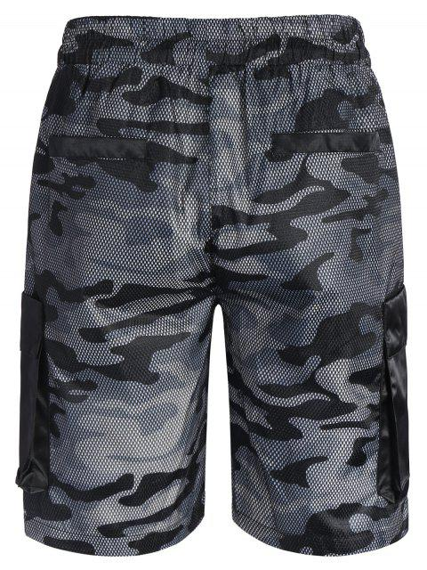 Camo Print Swim Cargo Board Shorts - Camouflage Gris 5XL Mobile