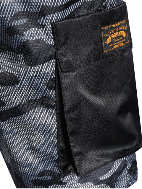 shops Camo Print Swim Cargo Board Shorts - CAMOUFLAGE GRAY XL Mobile