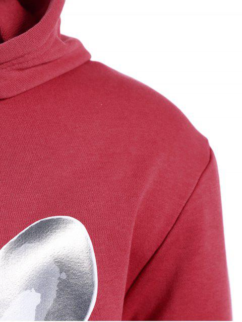 trendy Puppy Graphic Mens Oversized Hoodie - WATER RED 5XL Mobile