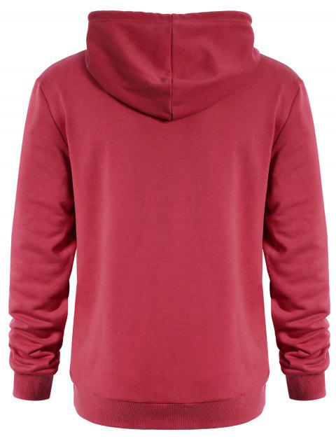 sale Puppy Graphic Mens Oversized Hoodie - WATER RED L Mobile