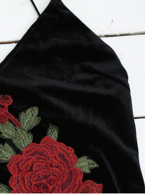 Robe brodée à la broderie - Noir S Mobile