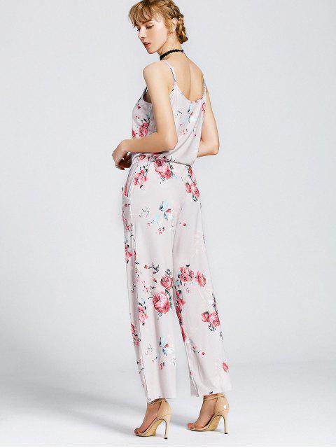 Combinaison de sac à main floral - Kaki Clair L Mobile