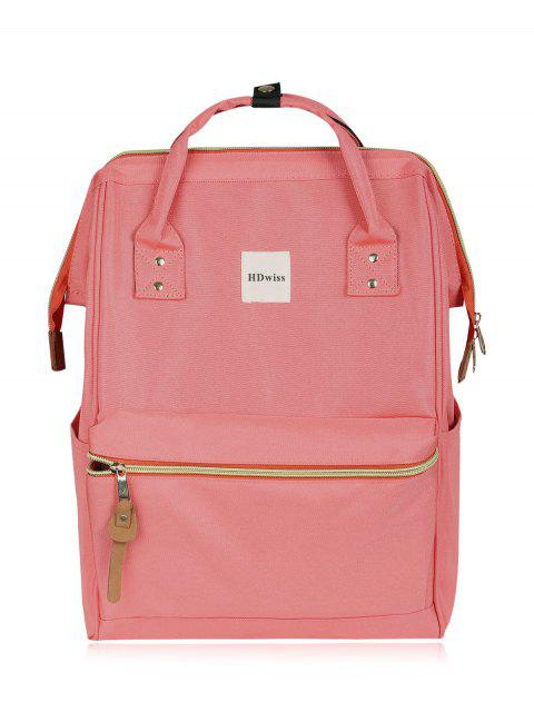 womens Casual Canvas Top Handle Backpack - PINK  Mobile