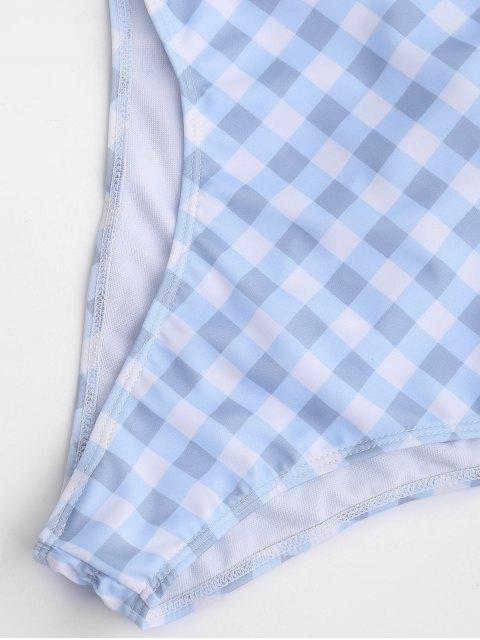 Maillot de bain haute couture à une pièce - Bleu et Blanc L Mobile