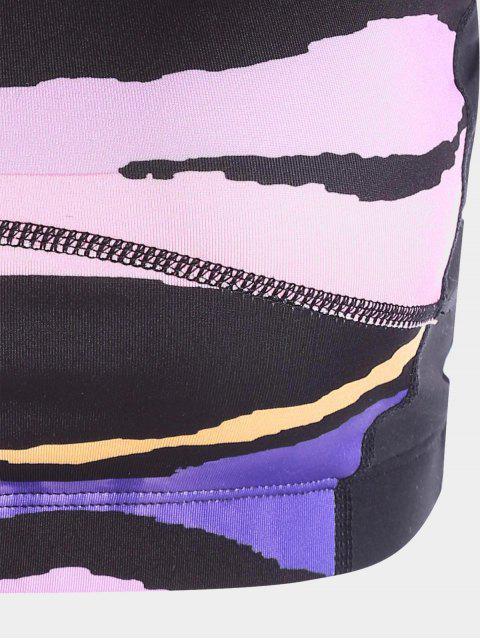 sale Crisscross Color Block Sports Bra - COLORMIX S Mobile