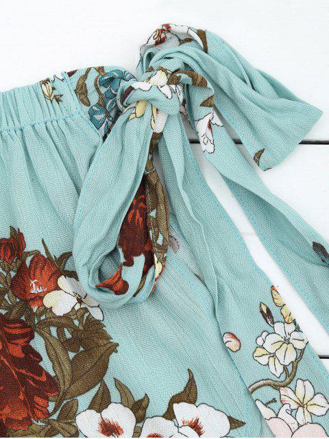 Short à bas prix et taille haute Bowknot - Bleu clair M Mobile