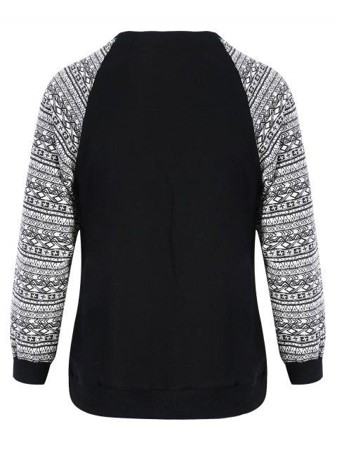 hot Front Pocket Printed Sweatshirt - BLACK XL Mobile