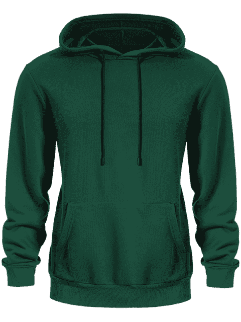 latest Pullover Kangaroo Pocket Hoodie - GREEN 4XL Mobile