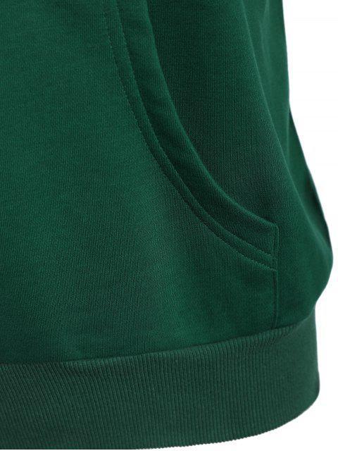 trendy Pullover Kangaroo Pocket Hoodie - GREEN 3XL Mobile