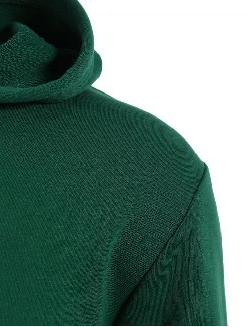 Pullover Kangaroo Pocket Hoodie - Vert XL Mobile