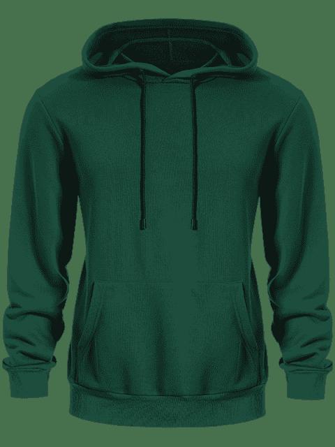Pullover Kangaroo Pocket Hoodie - Vert L Mobile