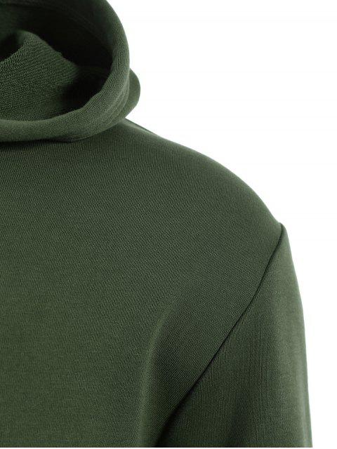 unique Pullover Kangaroo Pocket Hoodie - ARMY GREEN 5XL Mobile