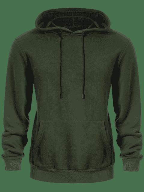 sale Pullover Kangaroo Pocket Hoodie - ARMY GREEN 4XL Mobile