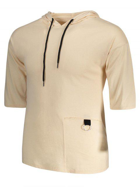 T-shirt à capuchon à corder - Kaki XL Mobile