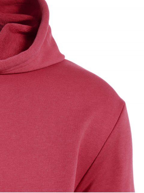 shop Pullover Kangaroo Pocket Hoodie - WATERMELON RED L Mobile