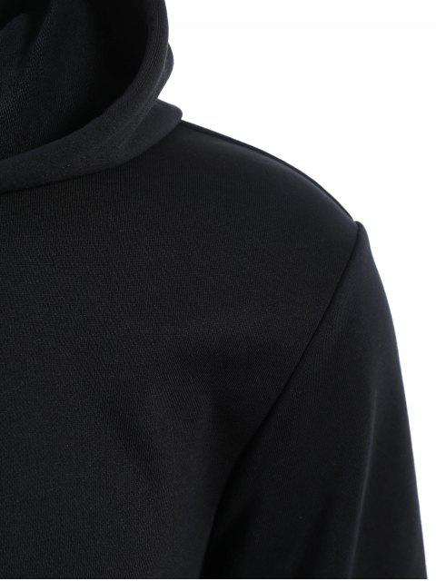 Poches Zip Up Hoodie - Noir XL Mobile