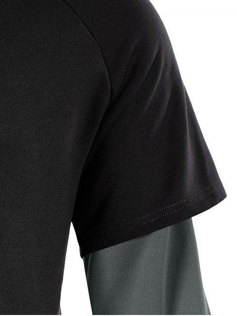 Overlay Kangaroo Pockets Hoodie - Noir 3XL Mobile