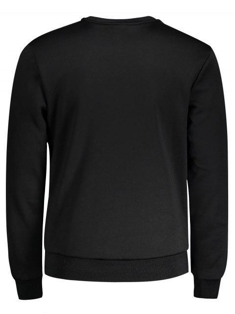 Pull en coton à manches courtes - Noir 2XL Mobile