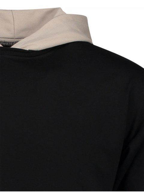trendy Two Tone Hoodie - BLACK XL Mobile