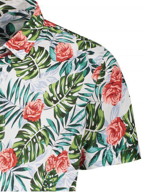 Chemise Leaf Shirt à manches courtes Monstera - Floral XL Mobile