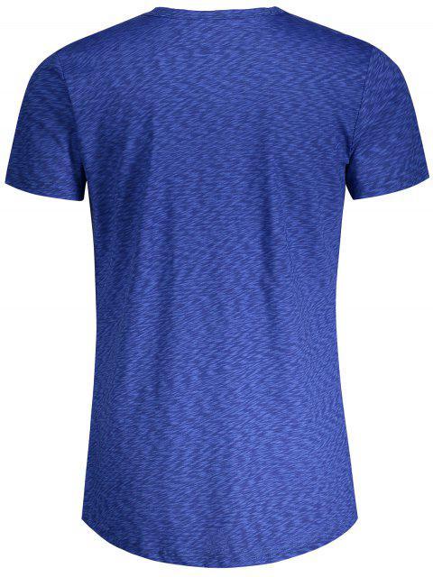 shops Pocket Heathered T-shirt - BLUE L Mobile