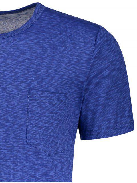 T-shirt à paille - Bleu L Mobile