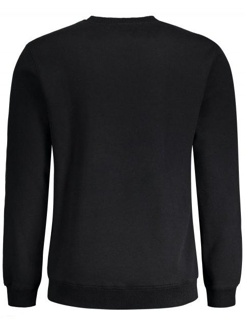 fashion Graphic Basic Slim Fit Sweatshirt - BLACK XL Mobile