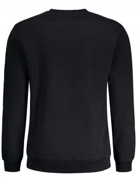Sweat à capuche graphique basique - Noir M Mobile