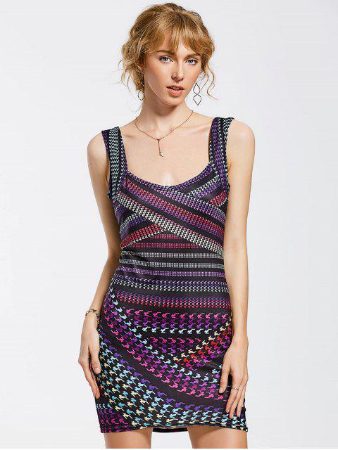 Robe imprimée mini-body - Multicolore L Mobile