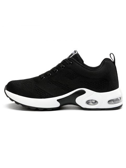 latest Air Cushion Mesh Breathable Athletic Shoes - BLACK 39 Mobile