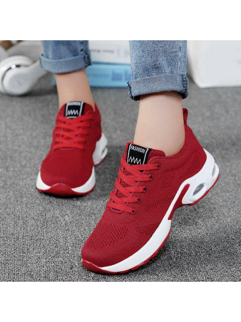 fancy Air Cushion Mesh Breathable Athletic Shoes - RED 40 Mobile