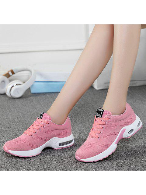 buy Air Cushion Mesh Breathable Athletic Shoes - PINK 40 Mobile