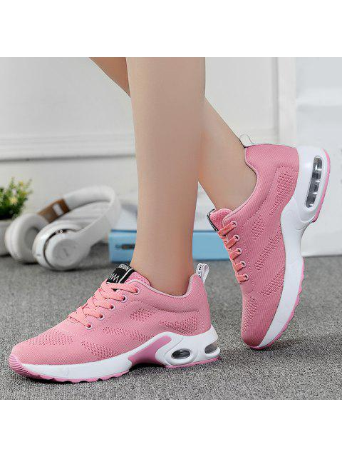 womens Air Cushion Mesh Breathable Athletic Shoes - PINK 37 Mobile