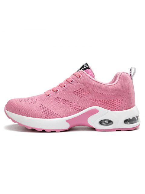 women Air Cushion Mesh Breathable Athletic Shoes - PINK 38 Mobile