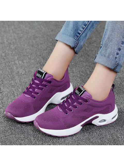women's Air Cushion Mesh Breathable Athletic Shoes - PURPLE 39 Mobile