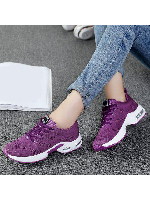 lady Air Cushion Mesh Breathable Athletic Shoes - PURPLE 37 Mobile