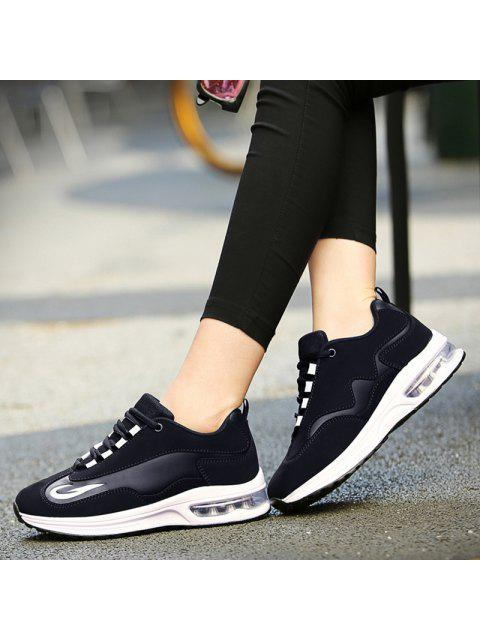 trendy Air Cushion Breathable Athletic Shoes - BLACK 40 Mobile