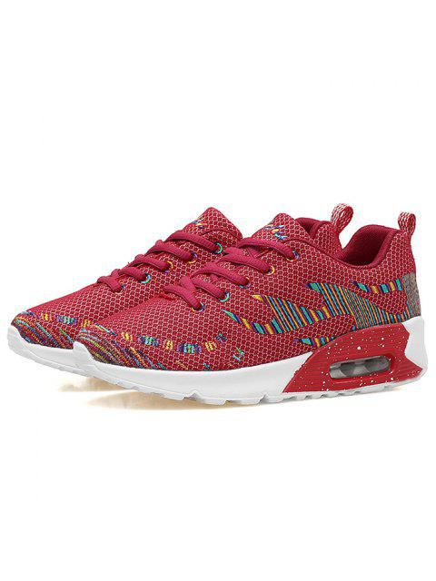 outfits Multicolour Air Cushion Athletic Shoes - RED 37 Mobile