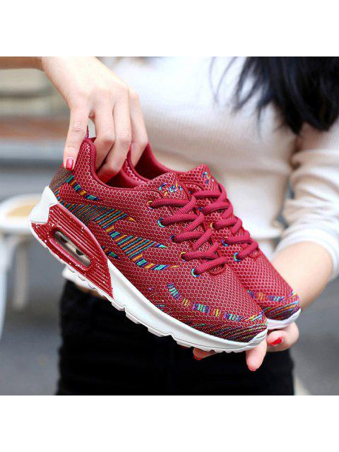 chic Multicolour Air Cushion Athletic Shoes - RED 40 Mobile