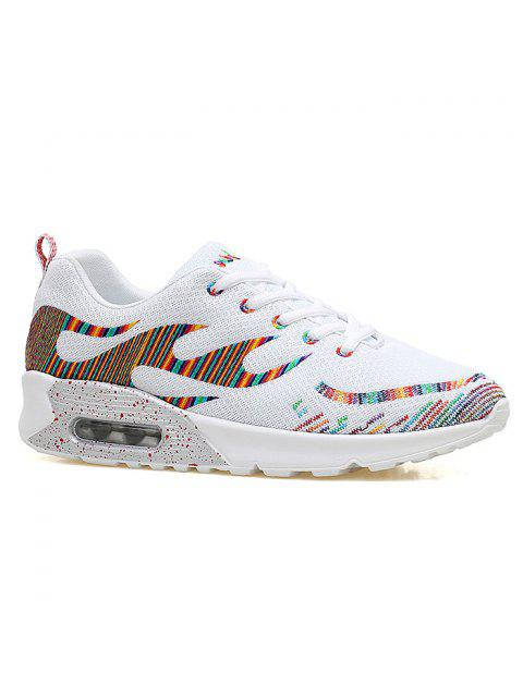 affordable Multicolour Air Cushion Athletic Shoes - WHITE 40 Mobile