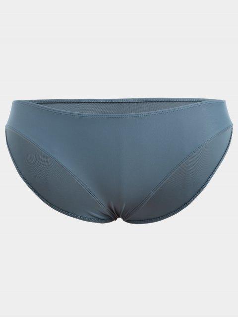 outfits One Shoulder Plus Size Tankini Set - BLUE 2XL Mobile