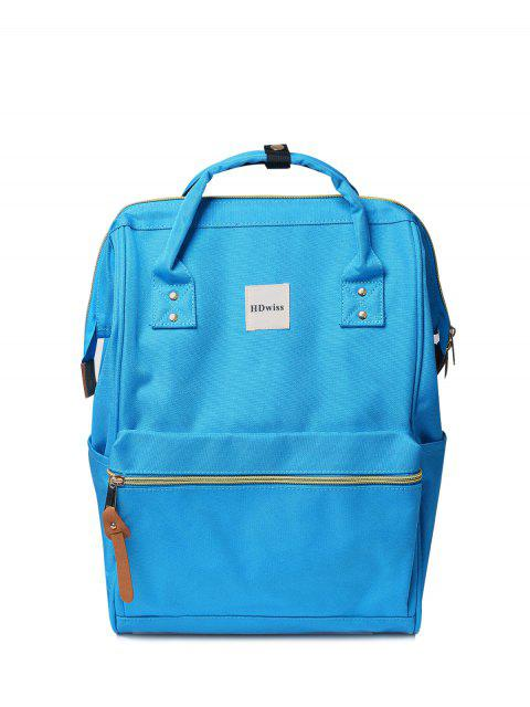 chic Casual Canvas Top Handle Backpack - WINDSOR BLUE  Mobile