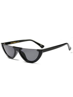 Semilunar Semi-Rimless Sunglasses