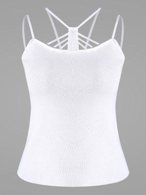 Cami Knitted Tank Top - White