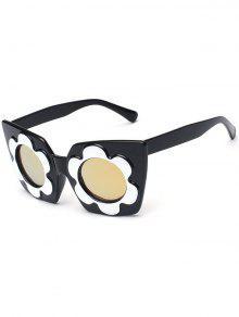 نظارات شمسية عاكسة - ذهبي