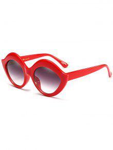 Anti UV Lip Design Sunglasses - Red
