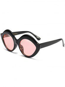 Anti UV Lip Design Sunglasses - Pink