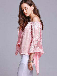 S 243;lido Hombro De Camiseta M Rosado La Color Del Del 6Pxxt