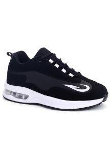 وسادة الهواء تنفس الأحذية الرياضية - أسود 38